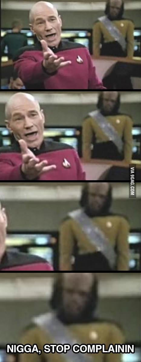 Annoyed Worf
