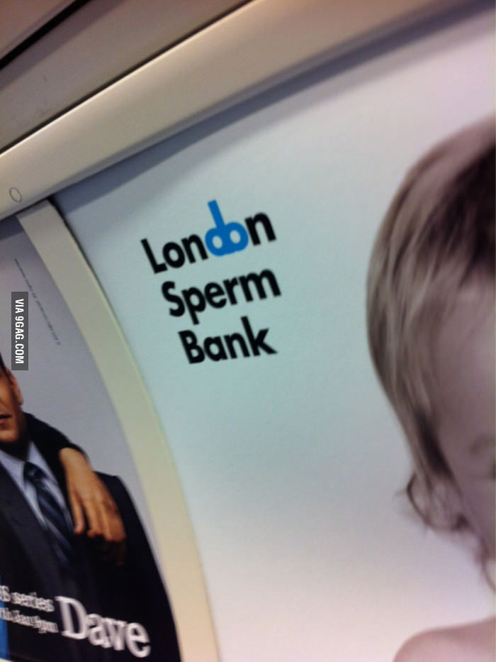 You gotta love the humor of the London Sperm Bank logo.