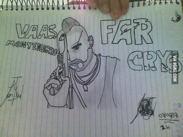 Vaas Montenegro drawing