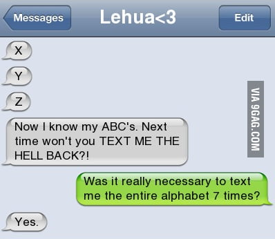 I know the ABC's