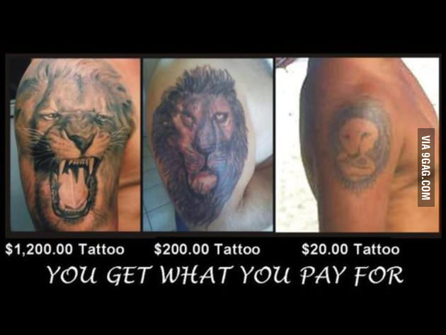 Lion tattoo - you get what you pay for