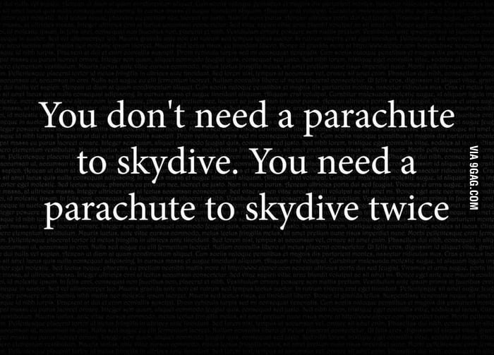 Thing about parachute