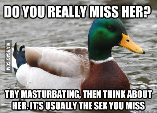 Actual Advice Mallard on Ex's