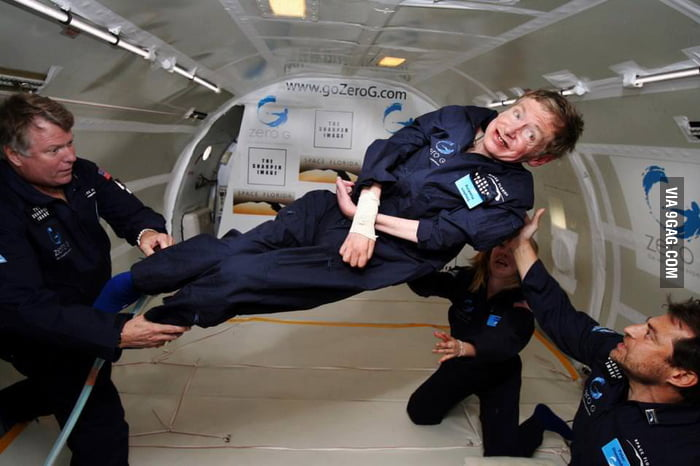 Stephen Hawking in 0 gravity!