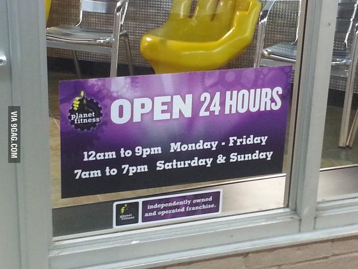 Open 24 hours?
