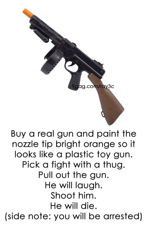 Gun Prank (Warning: it's a joke, don't try it.)