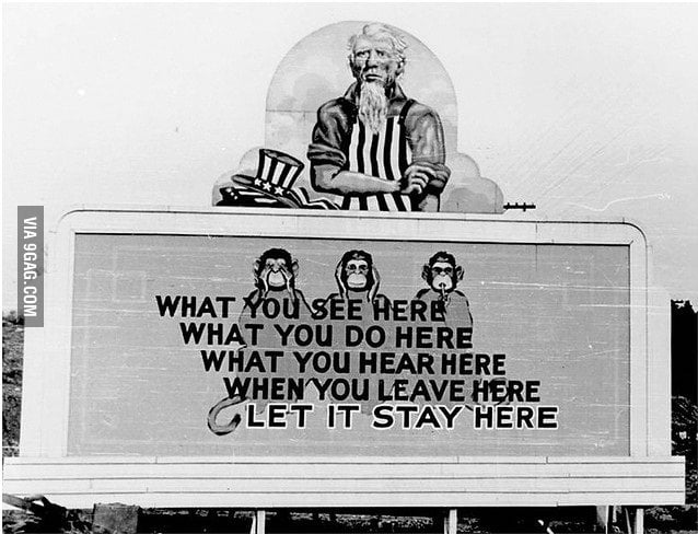A Billboard for Participants of Manhattan Project