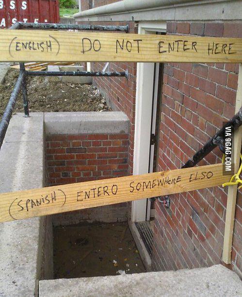 No habla espanol