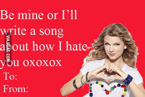Taylor's card to her boyfriend at Valentines day