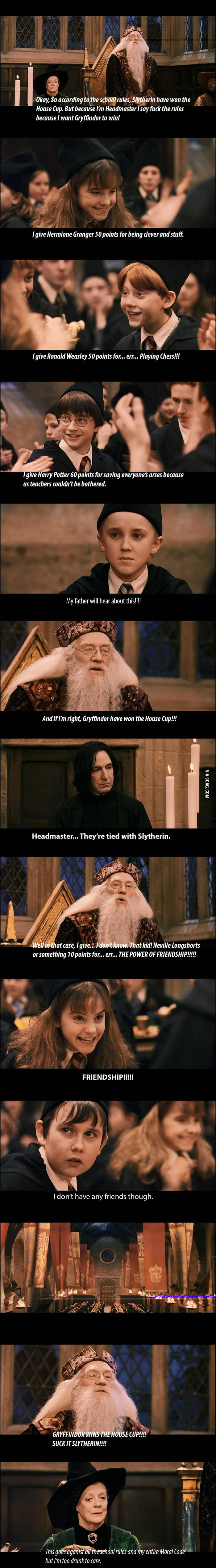 Dumbledore: Screwing Slytherin since 1997