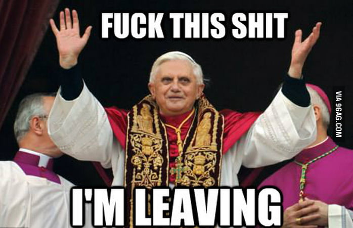 Pope resigns !