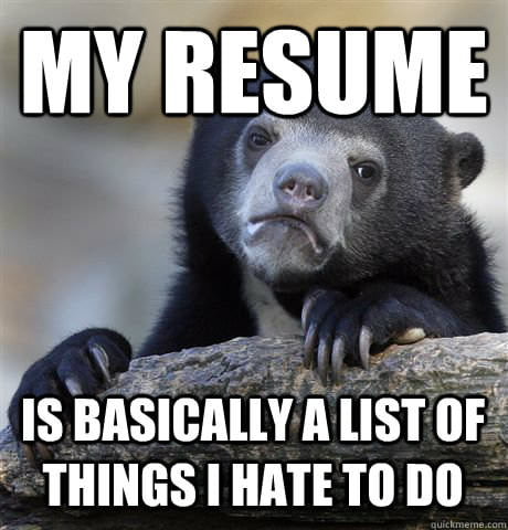 Quick truth I realized when applying for a job