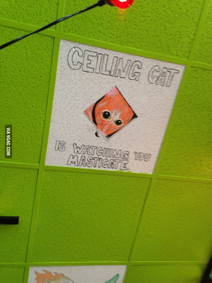 Someone drew this on the ceiling.