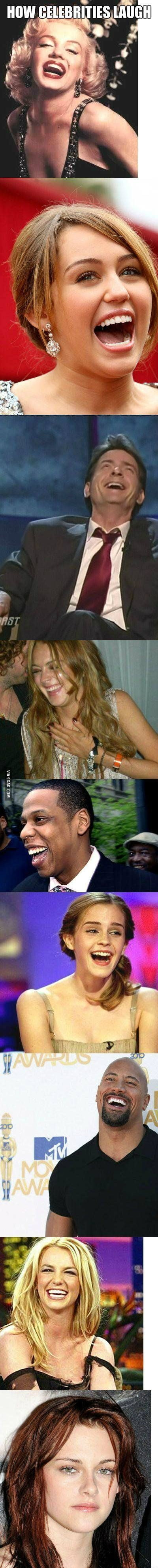 How Celebrities Laugh.