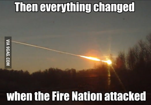 After looking at pics of the meteor