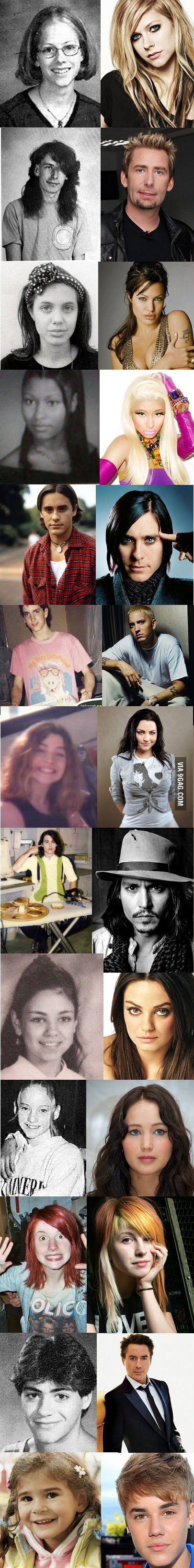 Famous people when they were younger