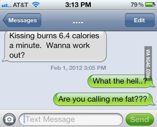 Kissing burns calories