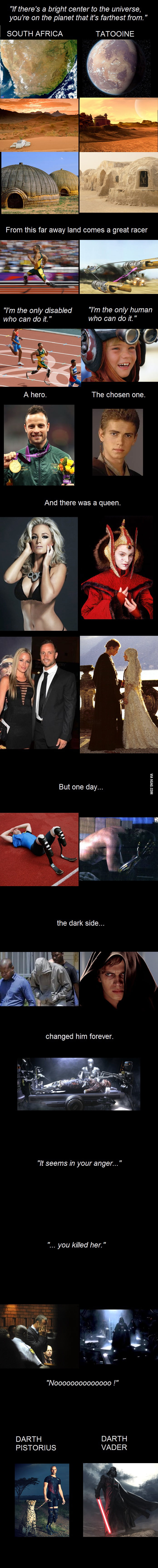 Darth Pistorius, the story of Oscar and Anakin