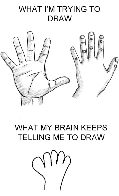 I still draw hands like this.