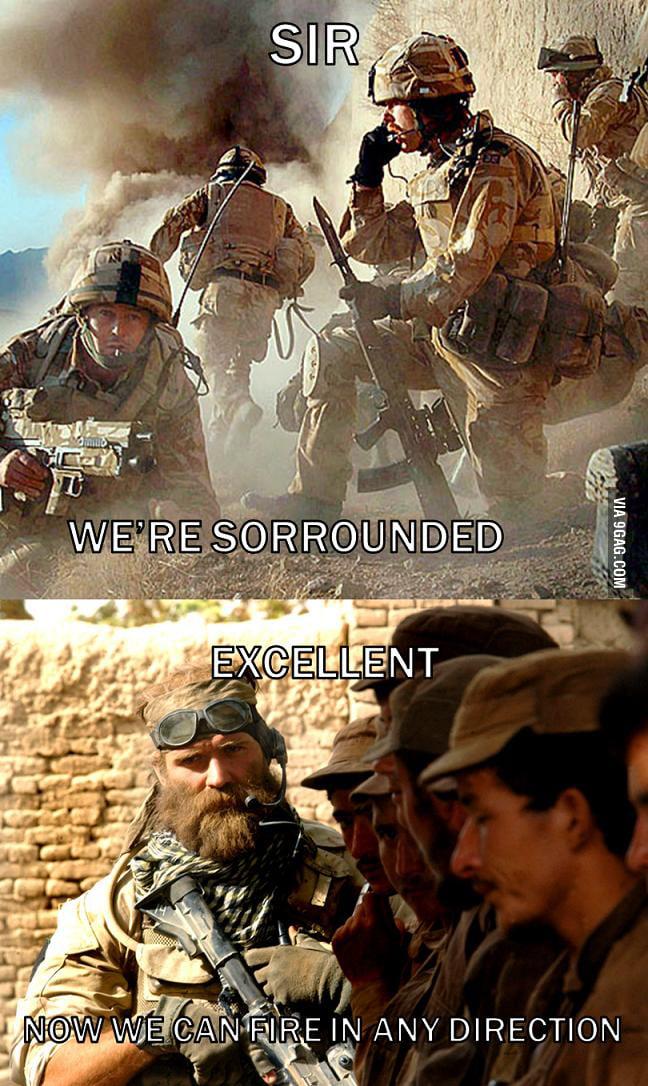 My favorite badass soldier quote