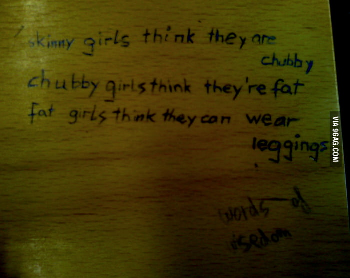 Saw this on a desk in a lecture room