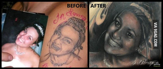 One less really ugly tatoo in the world