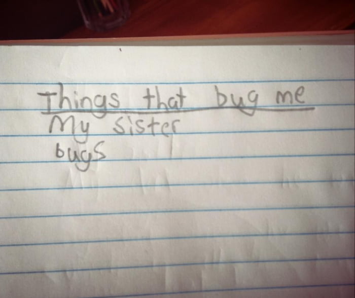 Found this in my fourth grade notebook