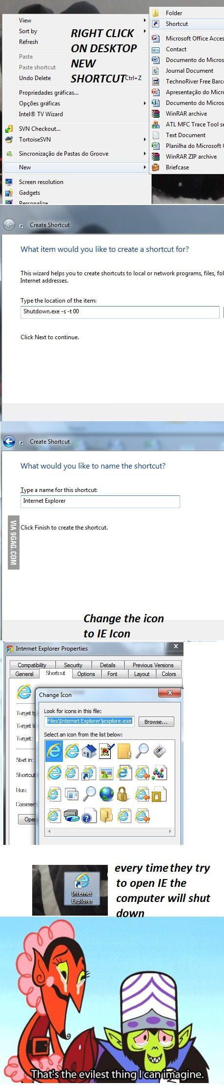 how to make internet explorer