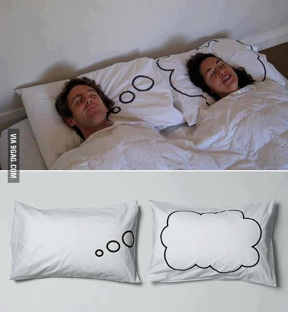 Overly attached girlfriend's pillow