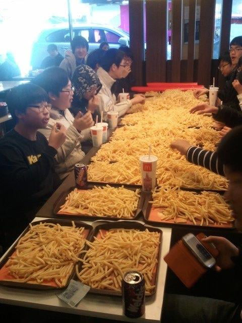 Asians like french fries, a lot