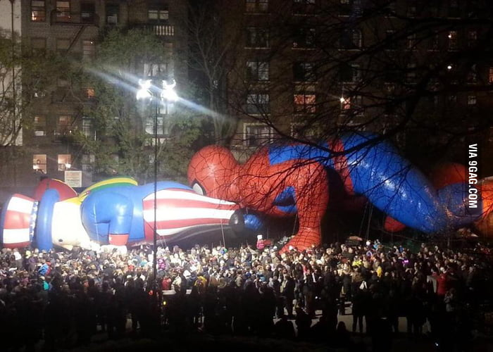 Spiderman - there are kids around!