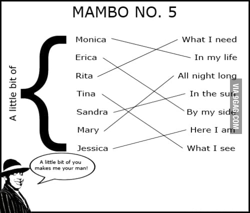 If you don't know mambo no.5...