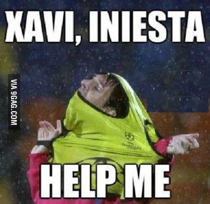 Xavi, iniesta, help me