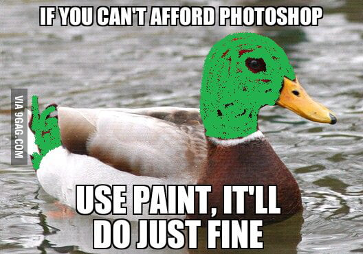 If you can't afford Photoshop...