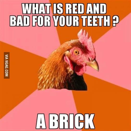Anti joke chicken as it's finest