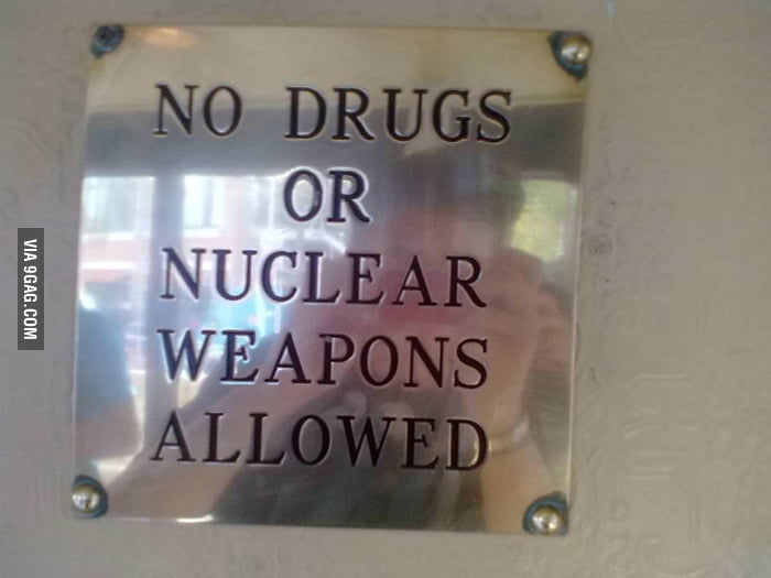 No nuclear weapons allowed in cafe