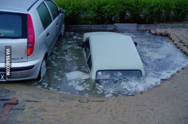 Unlucky parking spot