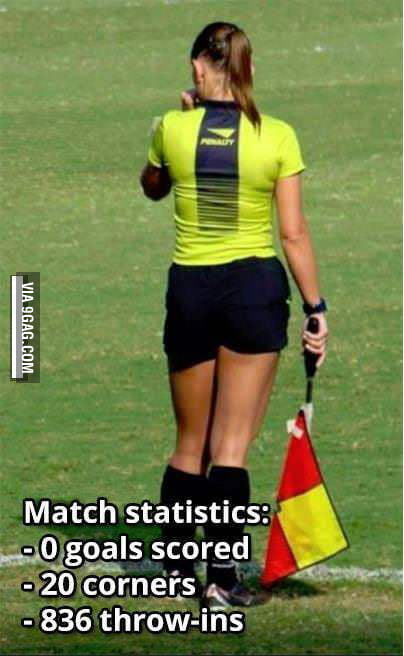 A hot female referee causes this