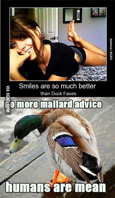 Smiles, way better than duck faces...