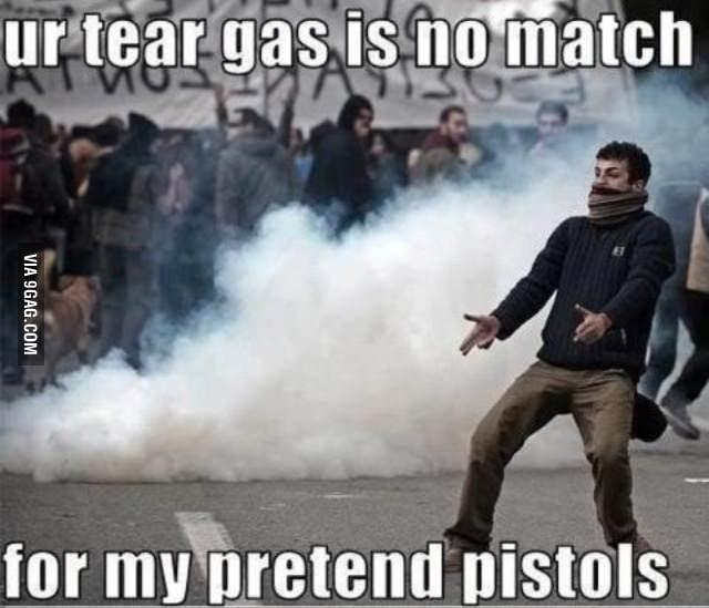 He got pretend pistols
