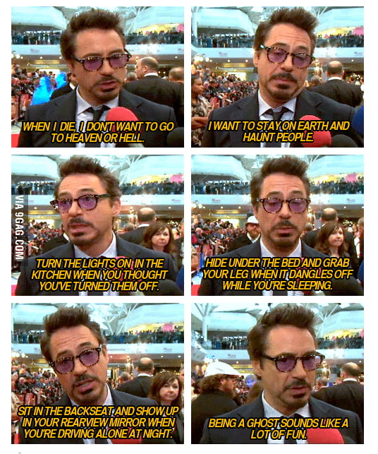 Robert Downey Jr. being himself...