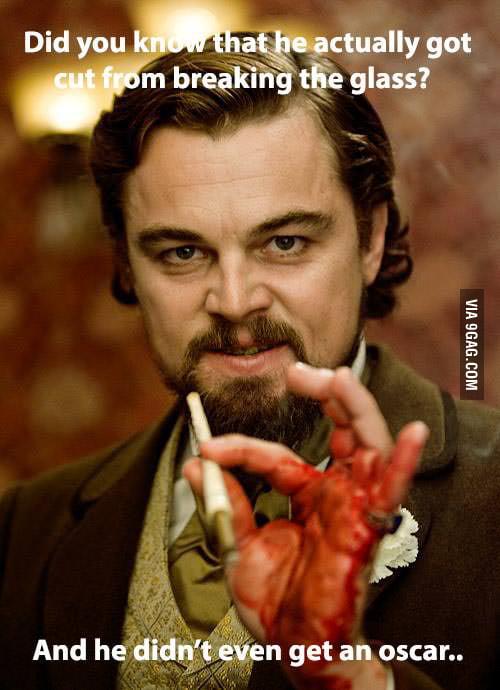 Poor Leo..
