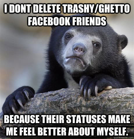 Confession bear on facebook friends