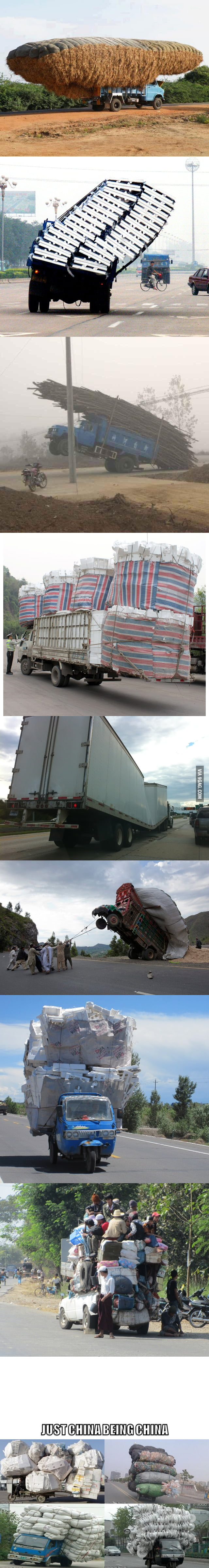 Overloaded cargo level: China