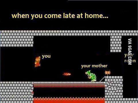 When you come late at home..