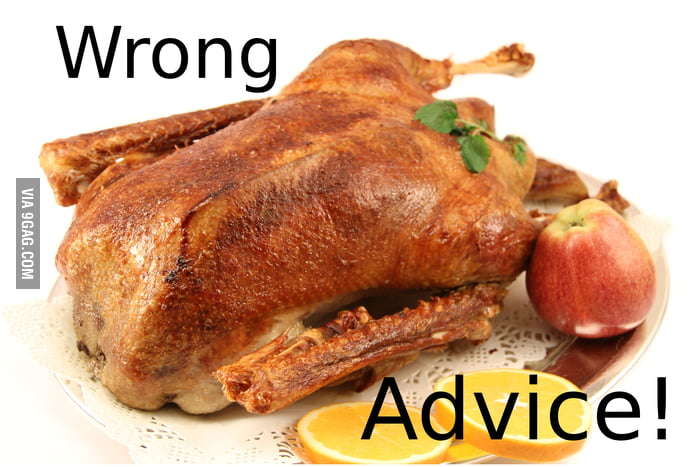 Actual advice dinner