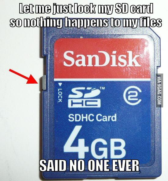 Useful SD card lock
