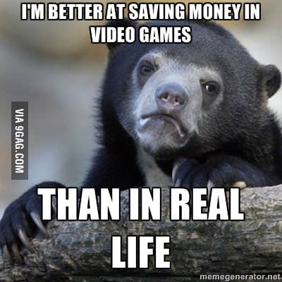 Saving money in video games
