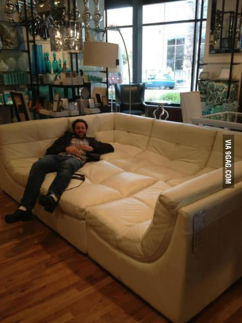 This couch is boss