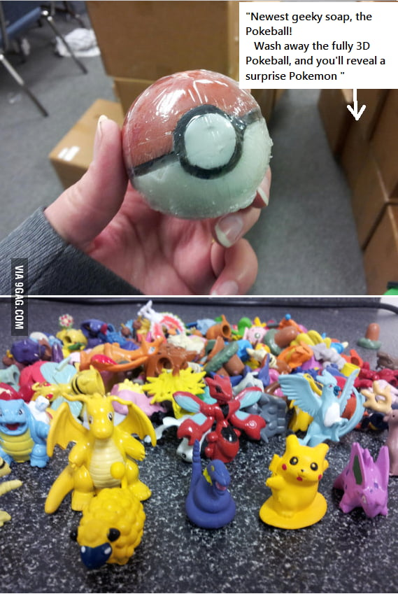 Wash your body and catch Pokemons at the same time !